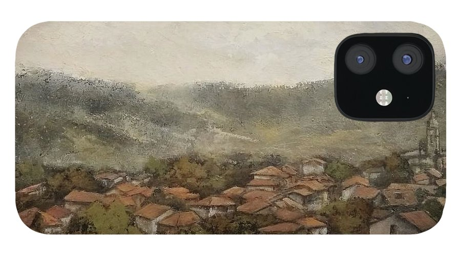 Cantabria IPhone 12 Case featuring the painting Novales-Cantabria by Tomas Castano