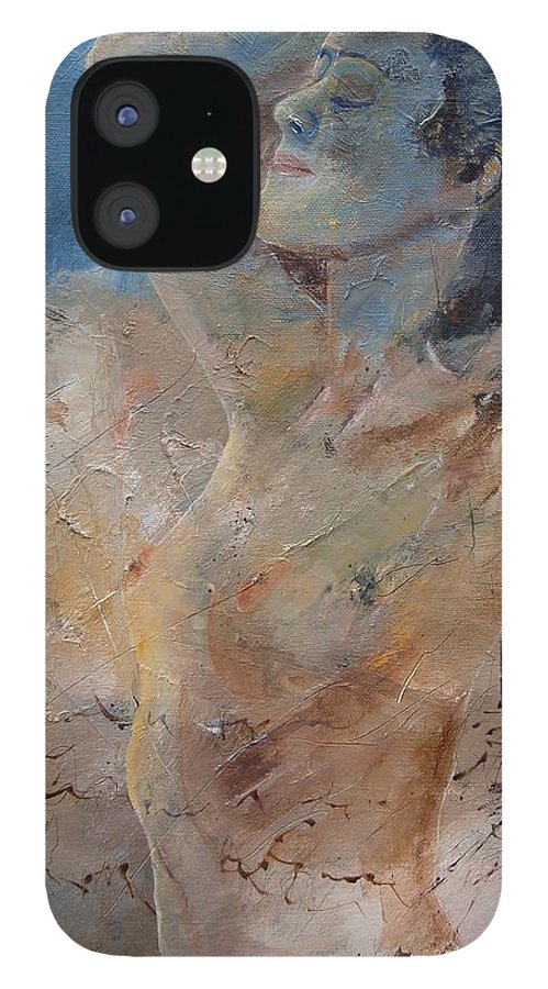 Nude IPhone 12 Case featuring the painting Nude 0508 by Pol Ledent