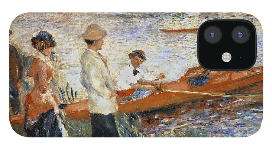 Oarsmen At Chatou IPhone 12 Case featuring the painting Oarsmen at Chatou by Pierre Auguste Renoir
