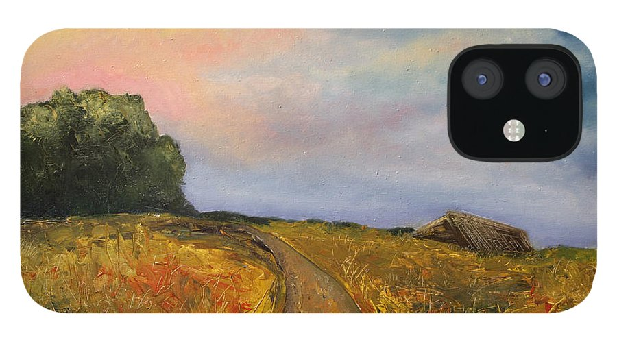 Landscape iPhone 12 Case featuring the painting Obviously Covered by Darko Topalski