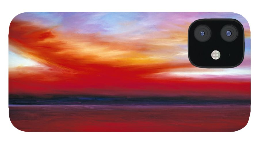 Clouds IPhone 12 Case featuring the painting October Sky by James Christopher Hill