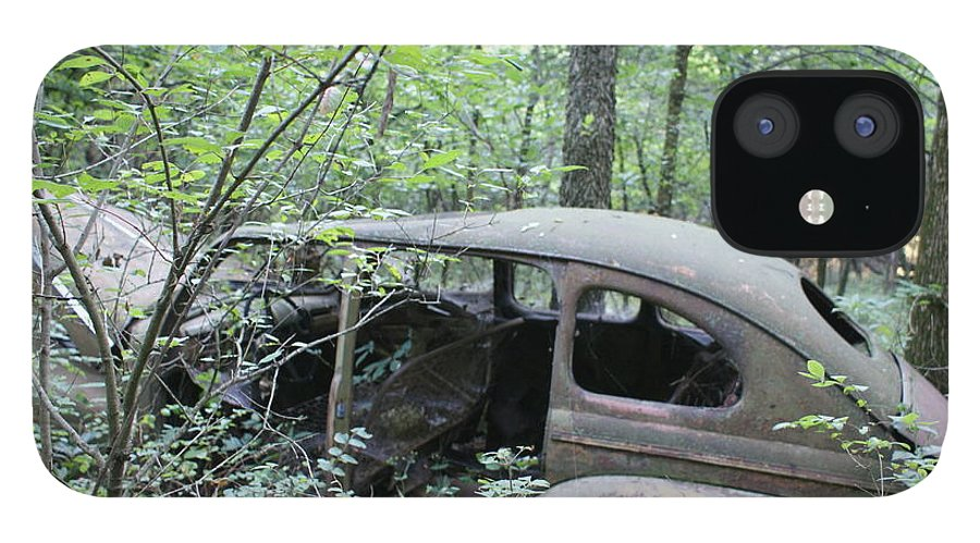 Abandoned Car IPhone 12 Case featuring the photograph Old abandoned car by Toni Berry