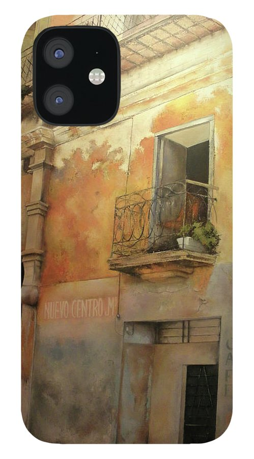 Havana Cuba IPhone 12 Case featuring the painting Old Havana by Tomas Castano
