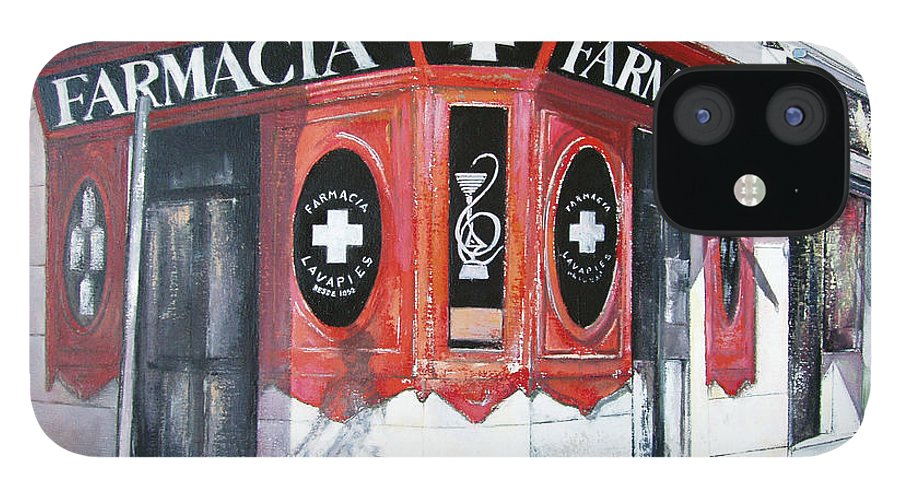 Pharmacy IPhone 12 Case featuring the painting Old Pharmacy by Tomas Castano