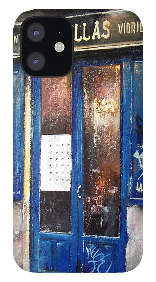 Old IPhone 12 Case featuring the painting Old Plumbing-Madrid by Tomas Castano