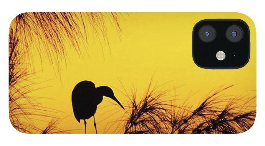 Egret IPhone 12 Case featuring the photograph One Of A Series Taken At Mahoe Bay by John Edwards