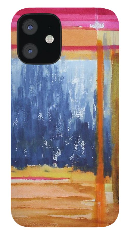 Landscape IPhone 12 Case featuring the painting Opening by Suzanne Udell Levinger