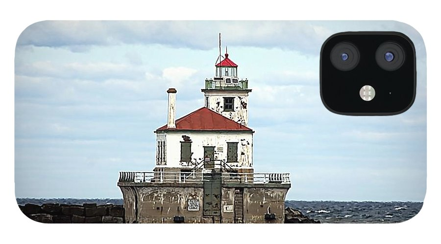 Lake Ontario IPhone 12 Case featuring the photograph Oswego NY Lighthouse by Rennae Christman