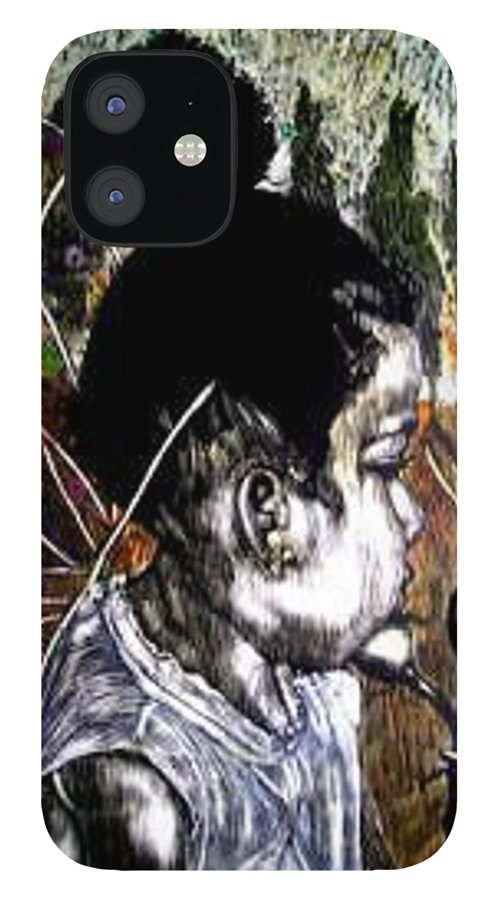 Fantasy IPhone 12 Case featuring the mixed media Our Farie Princess by Chester Elmore
