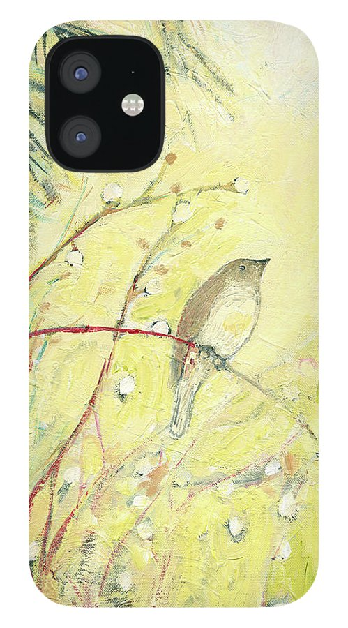 Bird IPhone 12 Case featuring the painting Out on a Limb by Jennifer Lommers