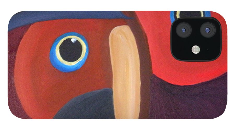 Owl IPhone Case featuring the painting Owl - SOLD by Paul Anderson