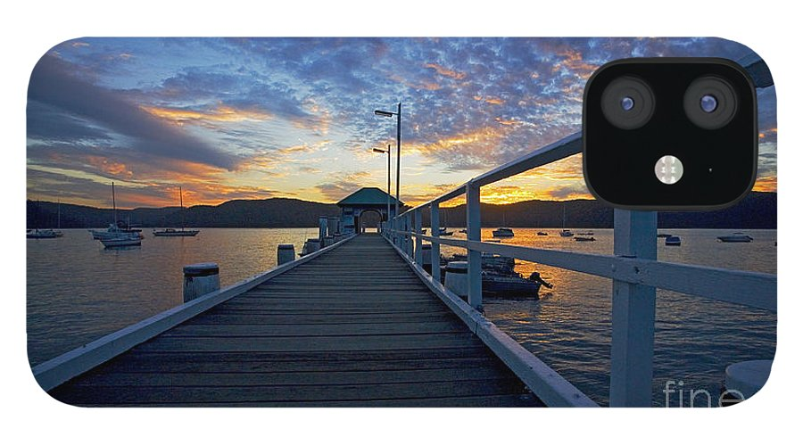 Palm Beach Sydney Wharf Sunset Dusk Water Pittwater IPhone 12 Case featuring the photograph Palm Beach wharf at dusk by Sheila Smart Fine Art Photography