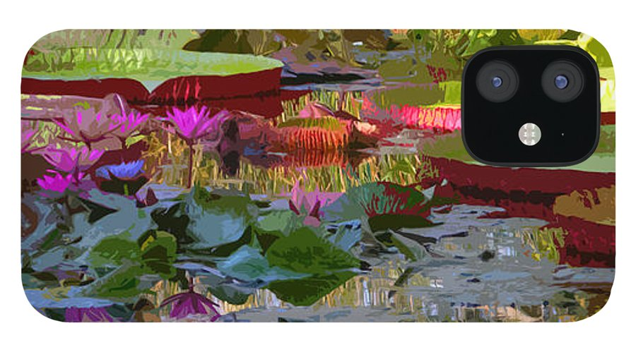 Water Lilies IPhone 12 Case featuring the photograph Passion for Beauty by John Lautermilch