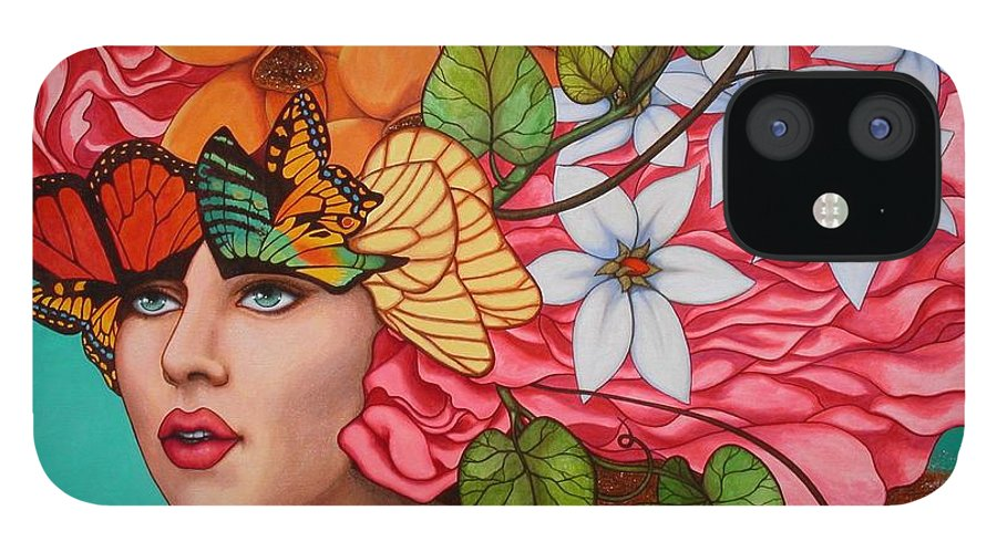 Woman IPhone 12 Case featuring the painting Passionate Pursuit by Helena Rose