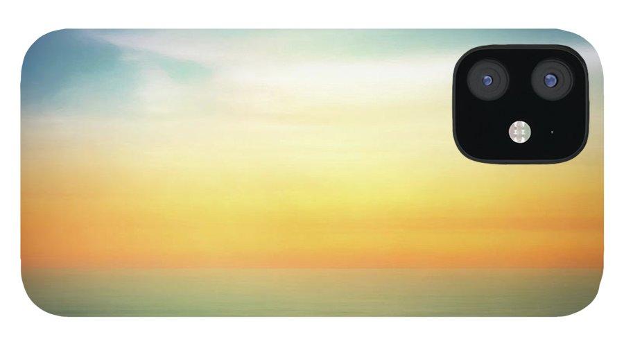 Pastel iPhone 12 Case featuring the digital art Pastel Sunrise by Scott Norris