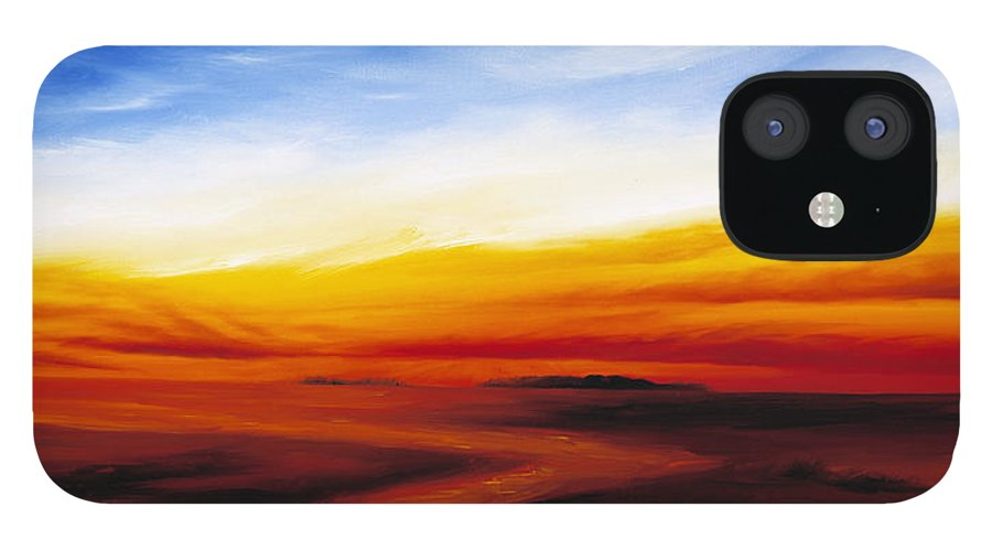 Sunrise IPhone 12 Case featuring the painting Path to Redemption by James Christopher Hill