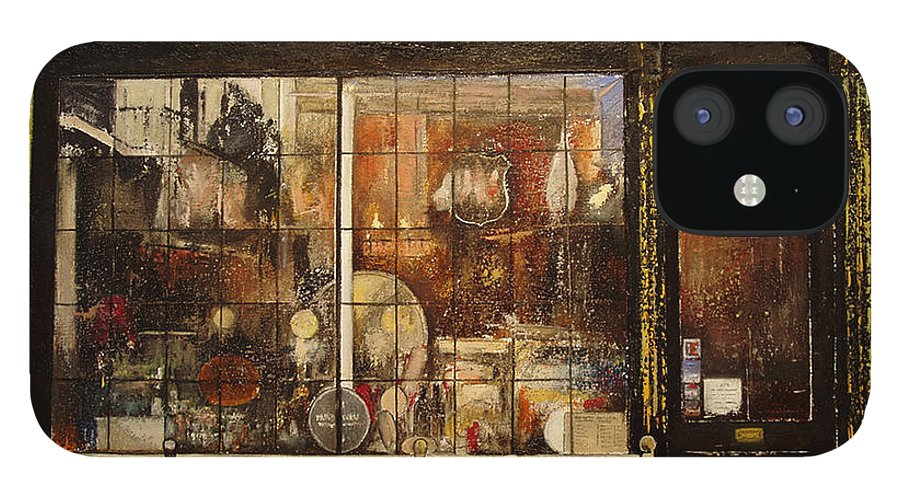 Paxton IPhone 12 Case featuring the painting Paxton Whitfield .London by Tomas Castano