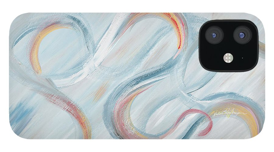 Peace IPhone 12 Case featuring the painting Peace by Nadine Rippelmeyer