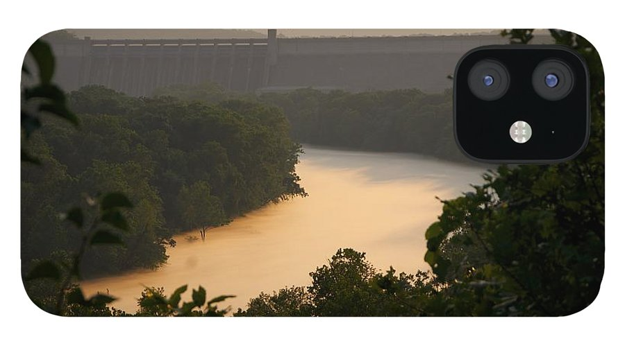 Fog IPhone 12 Case featuring the photograph Peach fog by Toni Berry