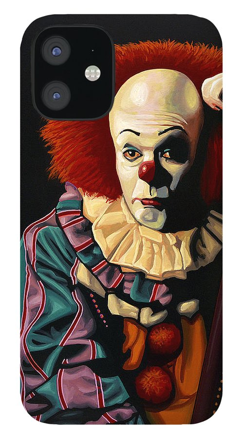 Pennywise IPhone 12 Case featuring the painting Pennywise by Paul Meijering