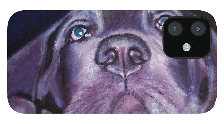 Portrait IPhone 12 Case featuring the painting Pepper by Fiona Jack
