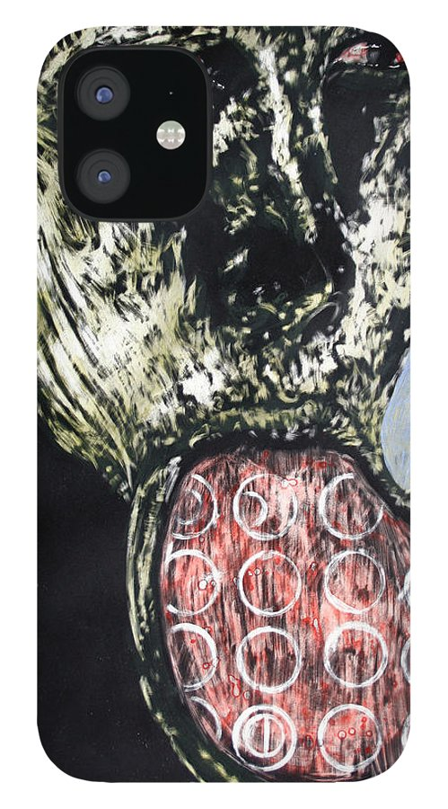 Portrait IPhone 12 Case featuring the mixed media Persephone by Chester Elmore