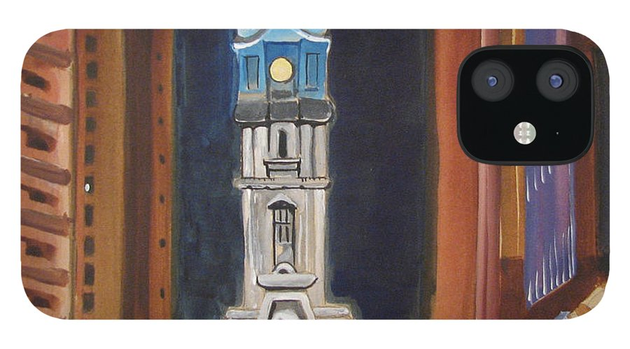 Landmarks IPhone 12 Case featuring the painting Philadelphia City Hall by Patricia Arroyo