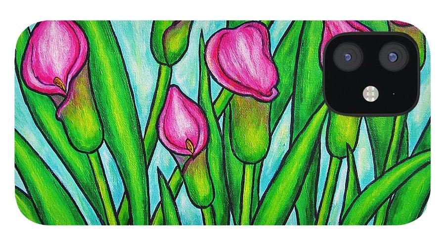 Lisa Lorenz IPhone 12 Case featuring the painting Pink Ladies by Lisa Lorenz