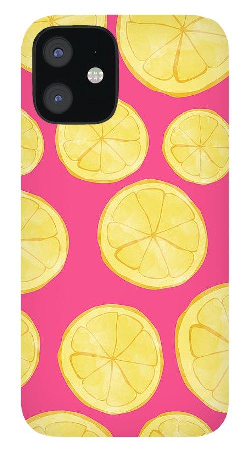 Pink Lemonade iPhone 12 Case featuring the digital art Pink Lemonade by Allyson Johnson