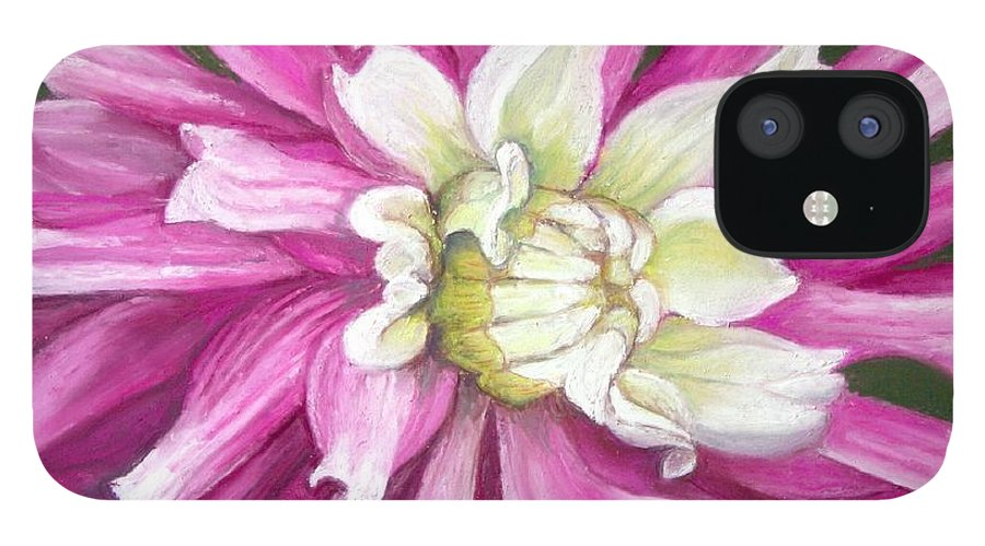 Floral IPhone 12 Case featuring the painting Pink Petal Blast by Minaz Jantz