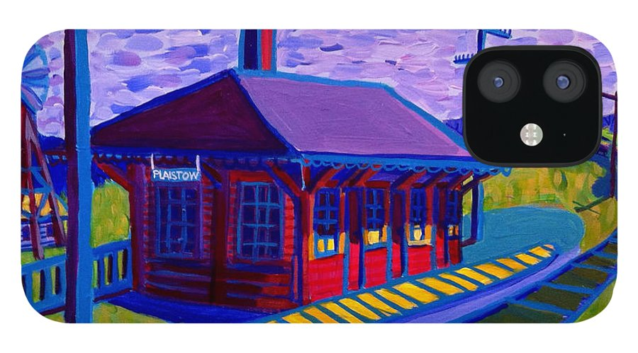 Plaistow IPhone 12 Case featuring the painting Plaistow Train Station by Debra Bretton Robinson