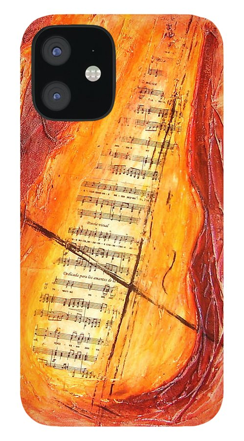 Music IPhone 12 Case featuring the painting Poesial Visual by Ivan Guaderrama