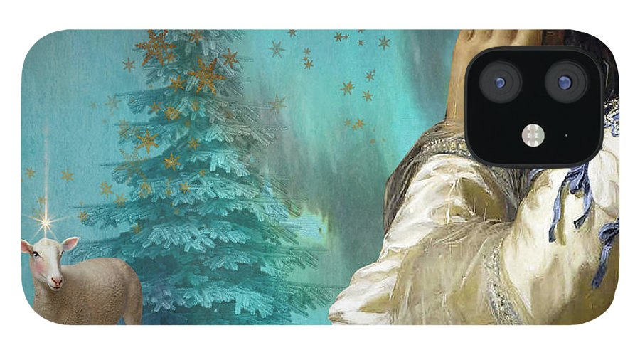 Portraiture IPhone 12 Case featuring the painting Pondering Peace by Laura Botsford