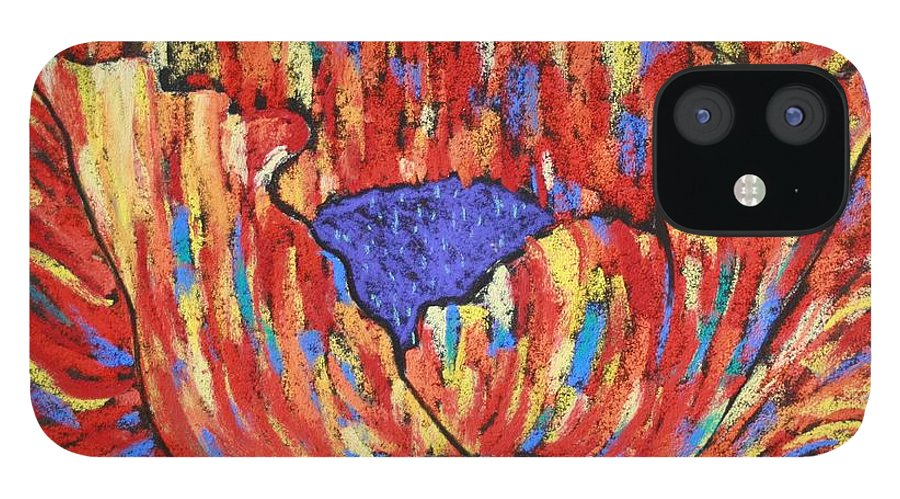 Poppy IPhone 12 Case featuring the painting Poppy2 by Melinda Etzold
