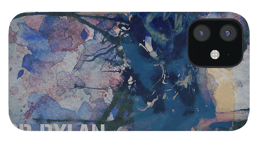 Bob Dylan IPhone 12 Case featuring the painting Positively 4th Street by Paul Lovering