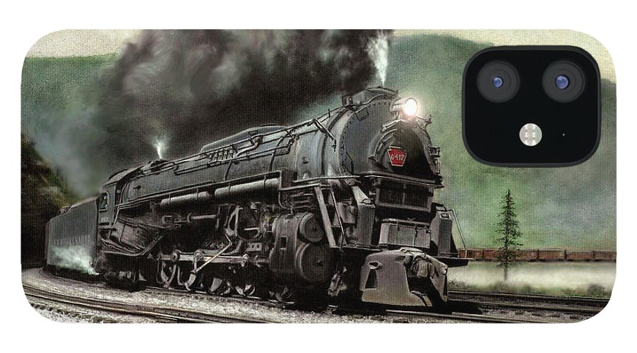 IPhone 12 Case featuring the painting Power on the Curve by David Mittner