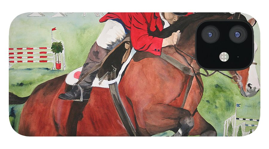 Horse IPhone 12 Case featuring the painting Practice Makes Perfect by Jean Blackmer