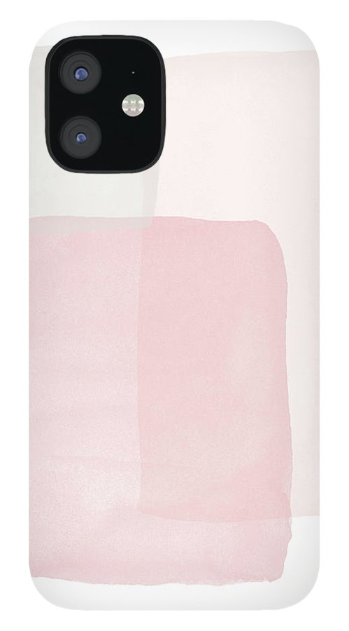 Watercolor IPhone 12 Case featuring the painting Pretty Pink Boxes 1- Art by Linda Woods by Linda Woods