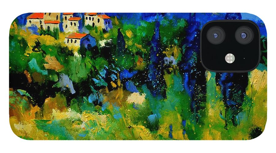 Landscape IPhone 12 Case featuring the painting Provence 768110 by Pol Ledent