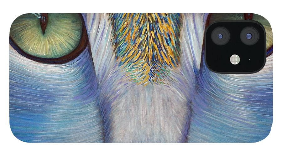 Cat iPhone 12 Case featuring the painting Purity by Brian Commerford