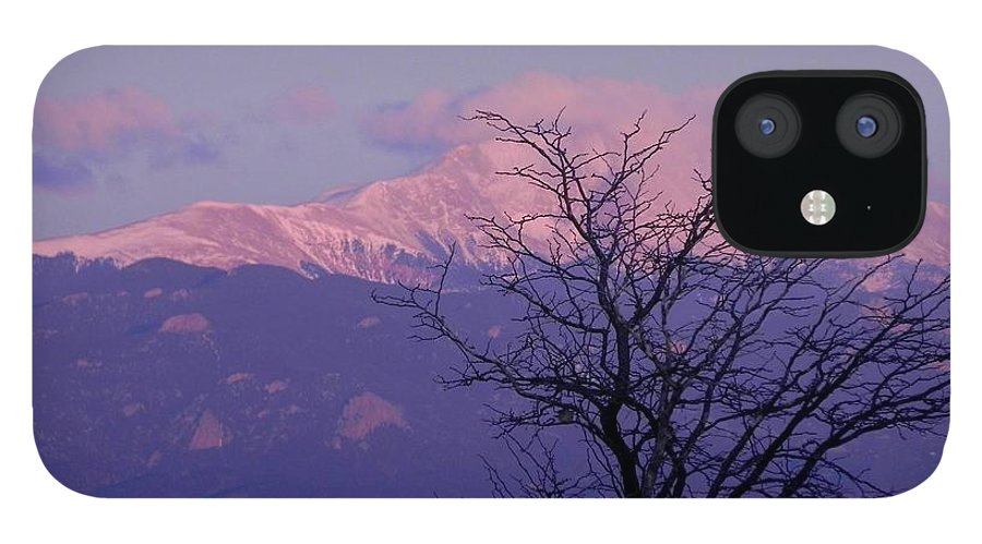 Pikespeak IPhone 12 Case featuring the photograph Purple Mountain Majesty by Adrienne Petterson