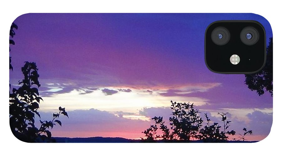 Purple Sunset IPhone 12 Case featuring the photograph Purple Passion by Toni Berry