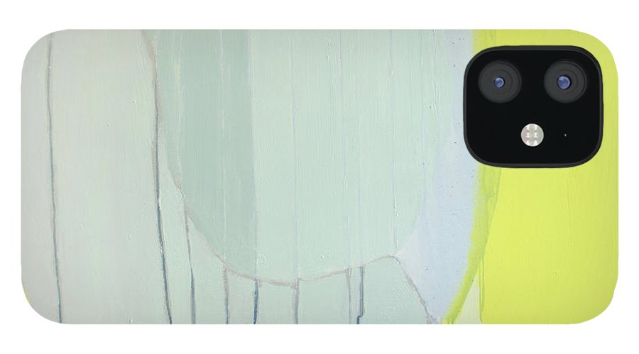 Abstract IPhone 12 Case featuring the painting Quien Esta? by Claire Desjardins