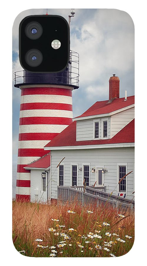West Quoddy Lighthouse IPhone 12 Case featuring the photograph Quoddy Lighthouse Afternoon by Brenda Giasson