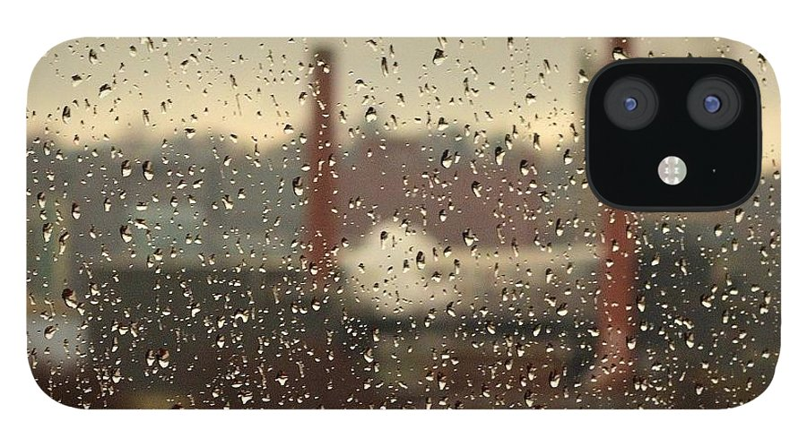 Rain iPhone 12 Case featuring the photograph Raindrops by Lisa Kane