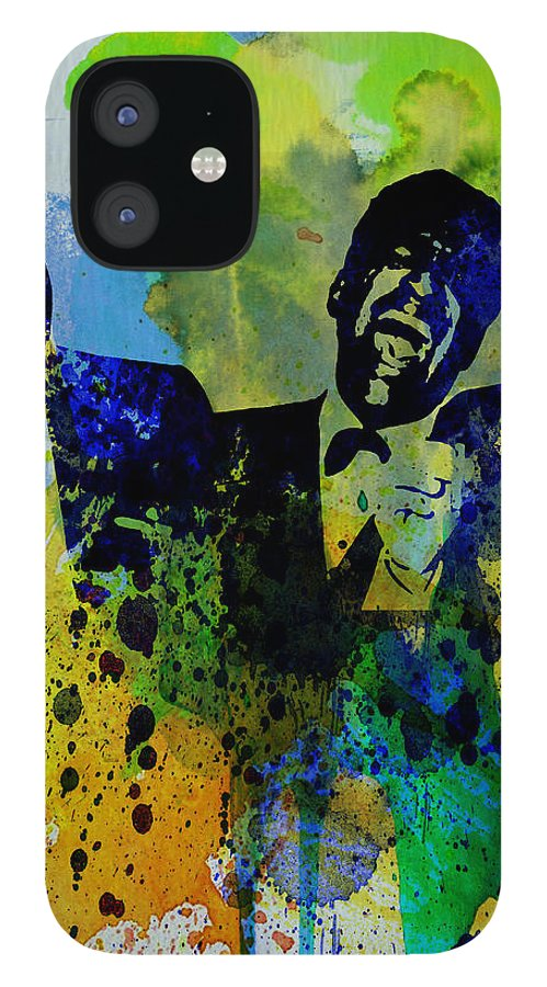 Frank Sinatra IPhone 12 Case featuring the painting Rat Pack by Naxart Studio