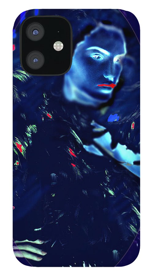 A Bizarre Evil Witch Flies With The Ravens IPhone 12 Case featuring the digital art Raven Woman by Seth Weaver