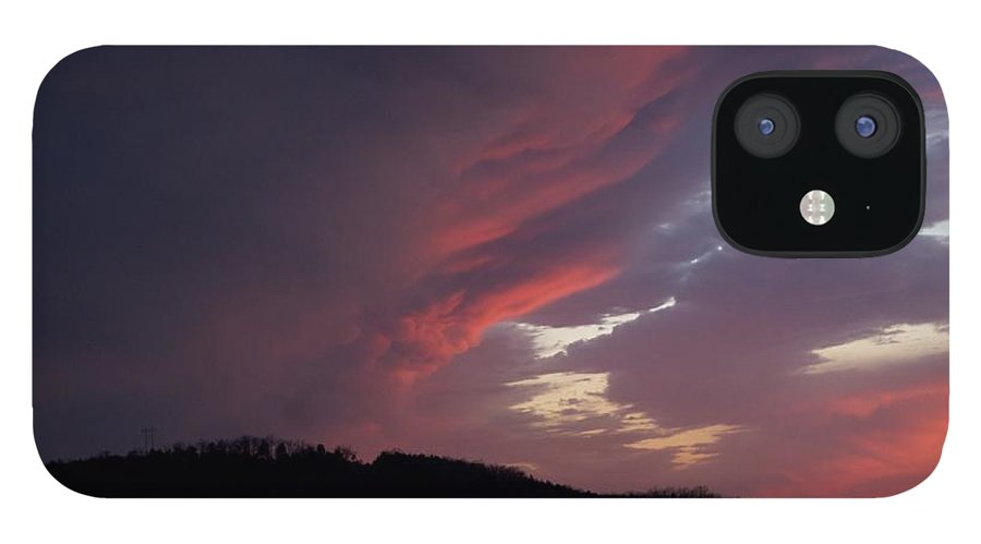 Red Clouds IPhone 12 Case featuring the photograph Red Clouds 2 by Toni Berry