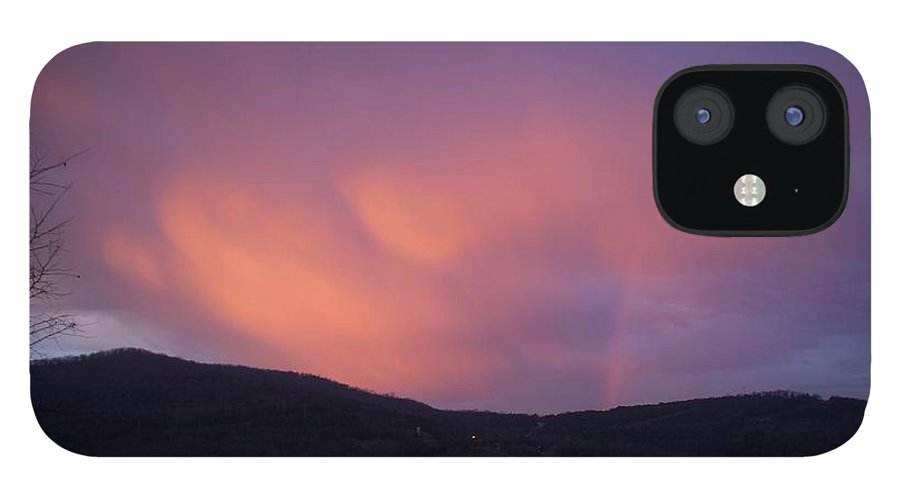 Sunset IPhone 12 Case featuring the photograph Red Clouds by Toni Berry
