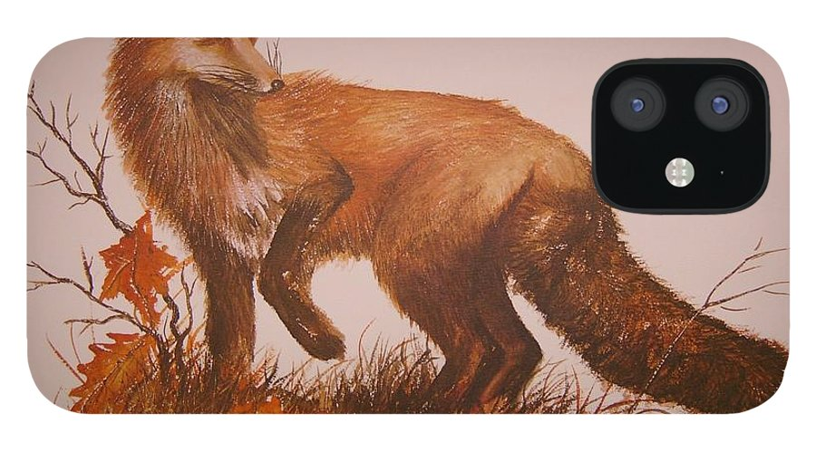 Nature IPhone 12 Case featuring the painting Red Fox by Ben Kiger